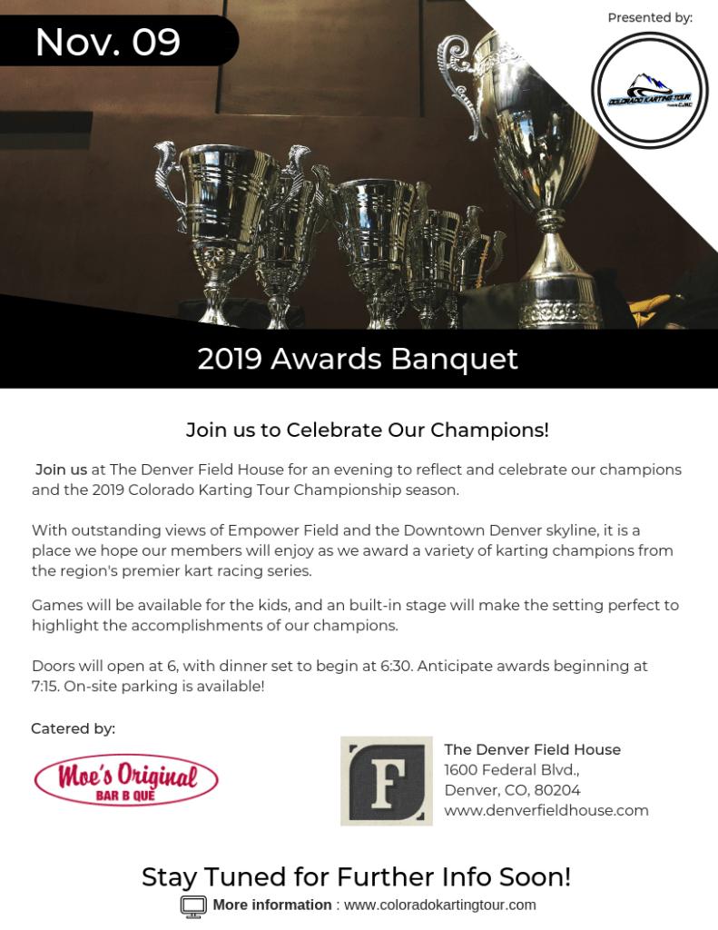 2019 Colorado Karting Tour Championship Banquet Details